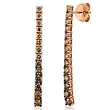 Le Vian 14ct Strawberry Gold Chocolate Diamond Earrings - Product number 8221499