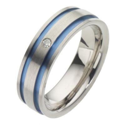 Mens Titanium Diamond Ring HSamuel