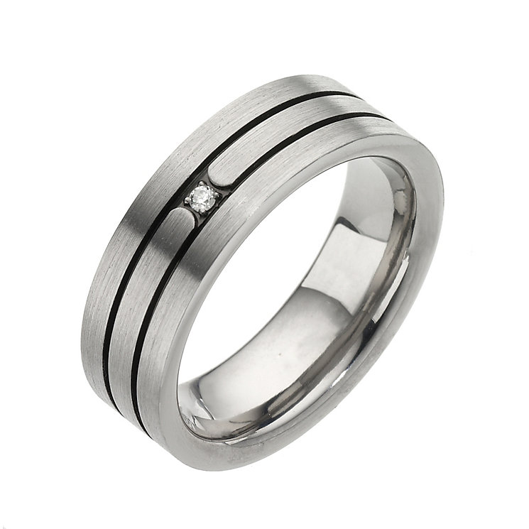 Men's Titanium Diamond Ring - Product number 8226342