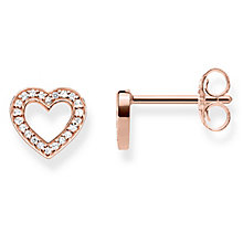 Thomas Sabo Together Rose Gold Plated Heart Stud Earrings - Product number 8226865