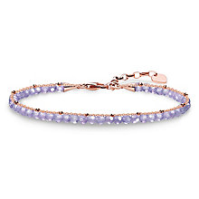 Thomas Sabo Glam & Soul Rose Gold Plated Purple Bracelet - Product number 8227535