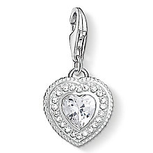 Thomas Sabo Sterling Silver Stone Set Heart Charm - Product number 8227586