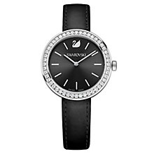 Swarovski Daytime Ladies' Crystal Black Leather Strap Watch - Product number 8228922