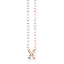 Thomas Sabo Glam & Soul Rose Gold Plated classic X Necklace - Product number 8231346