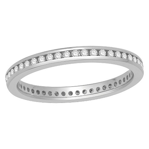 18ct white gold quarter carat diamond eternity ring