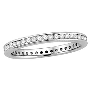 18ct white gold half carat diamond eternity ring - Product number 8237093