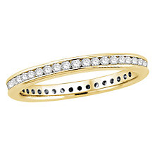 18ct yellow gold half carat diamond eternity ring - Product number 8237220