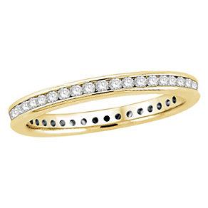 18ct yellow gold half carat diamond eternity ring - Product number 8237220