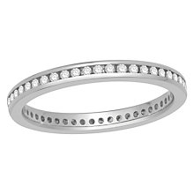 Platinum 0.25ct diamond full eternity ring - Product number 8237360