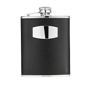 6oz Black Leather Hipflask - Product number 8238480