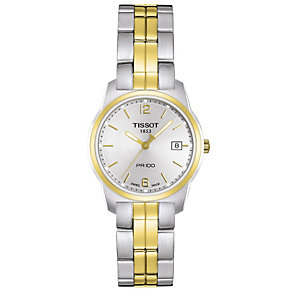 Tissot ladies' silver dial two colour bracelet watch - Product number 8239398