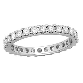 18ct white gold one carat diamond full eternity ring - Product number 8240914