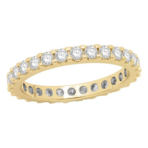 18ct yellow gold one carat diamond full eternity ring