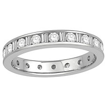 18ct white gold one carat diamond full eternity ring. - Product number 8241716