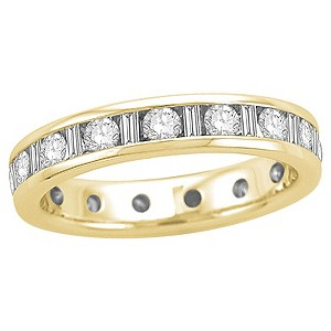 18ct yellow gold half carat diamond full eternity ring - Product number 8241848