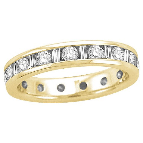 18ct yellow gold half carat diamond full eternity ring