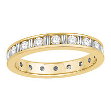 18ct yellow gold one carat diamond full eternity ring - Product number 8241961