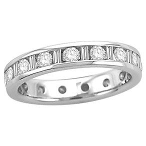 Platinum half carat diamond full eternity ring - Product number 8242100