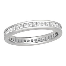 18ct white gold one carat diamond full eternity ring - Product number 8242496