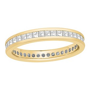 18ct yellow gold one carat diamonds full eternity ring - Product number 8242755