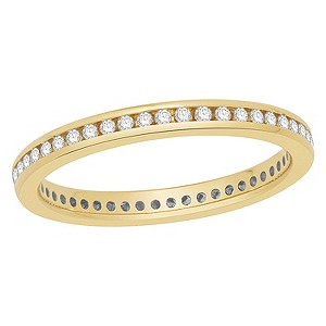 18ct yellow gold 1/4 ct diamond ring - Product number 8243840