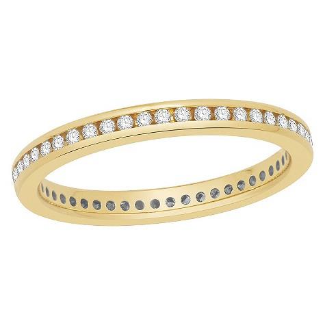 18ct yellow gold ring featuring quarter carat diamonds