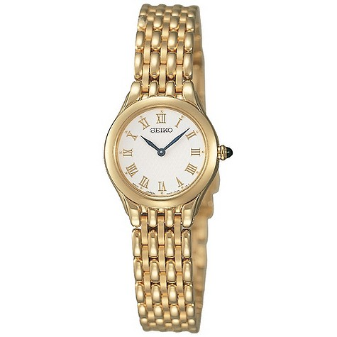 Seiko gold plated bracelet watch