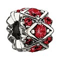 Chamilia - Sterling Silver & Red Swarovski Crystal Bead - Product number 8341052
