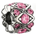 Chamilia - Sterling Silver & Pink Swarovski Crystal Bead - Product number 8341060