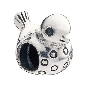 - Sterling Silver Bird Bead