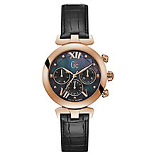 Gc LadyBelle Ladies' Black Leather Strap Watch - Product number 8346836