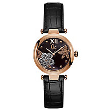 Gc LadyChic Ladies' Black Leather Strap Watch - Product number 8346879