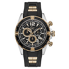 Gc Men's Black Silicone Strap Watch - Product number 8346925