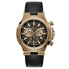 Gc Men's Black Leather Strap Watch - Product number 8346941