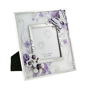 Juliana Purple Butterfly Flower Picture Frame 3x3 - Product number 8347476