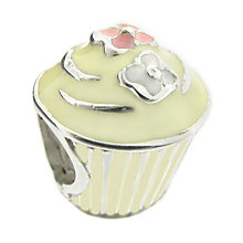 Truth - Sterling Silver Cream Cupcake Bead - Product number 8347735