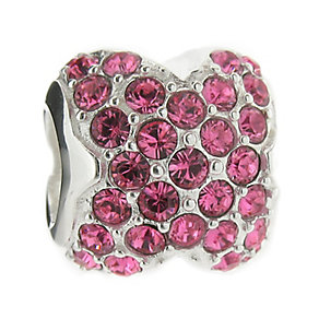 Truth Sterling Silver Pink Crystal Bead - Product number 8347883