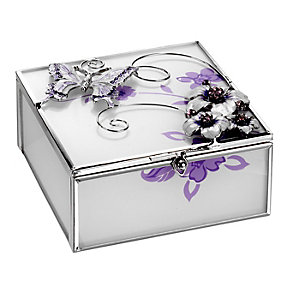 The Juliana Collection Butterfly And Flower Trinket Box - Product number 8349118