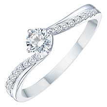 18ct White Gold 0.33ct Solitaire Twist Diamond Ring - Product number 8349312