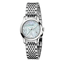 Gucci Timeless ladies' stainless steel mother of pearl watch - Product number 8349657