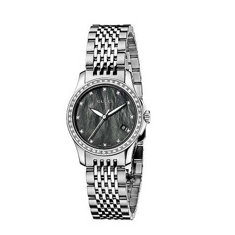 Gucci G-Timeless diamond bezel watch