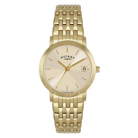 Rotary ladies' gold-plated bracelet watch