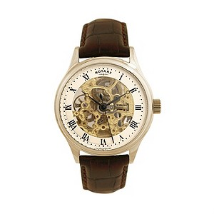 Rotary men's gold-plated skeleton watch - Product number 8351651
