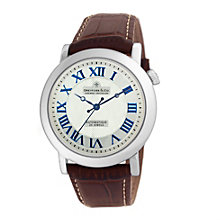 Dreyfuss & co men's brown leather strap watch - Product number 8351694