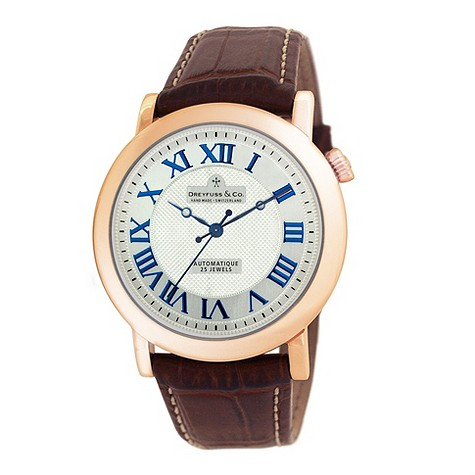 Dreyfuss & co men's rose gold-plated watch - DGS00031/21