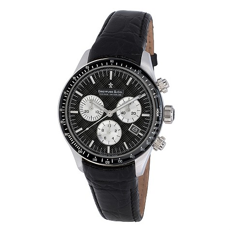 Dreyfuss & co men's black strap watch - DGS00032/04