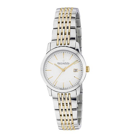 Dreyfuss & co ladies' two colour bracelet watch - DLB00005/02