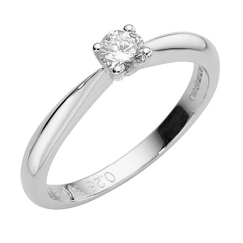 Online Exclusive 18ct white gold solitaire diamond ring
