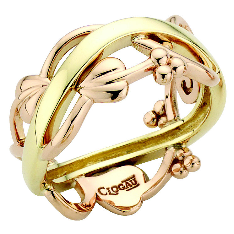 Clogau 9ct Yellow and Rose Gold Tree Of Life Ring - Product number 8355789