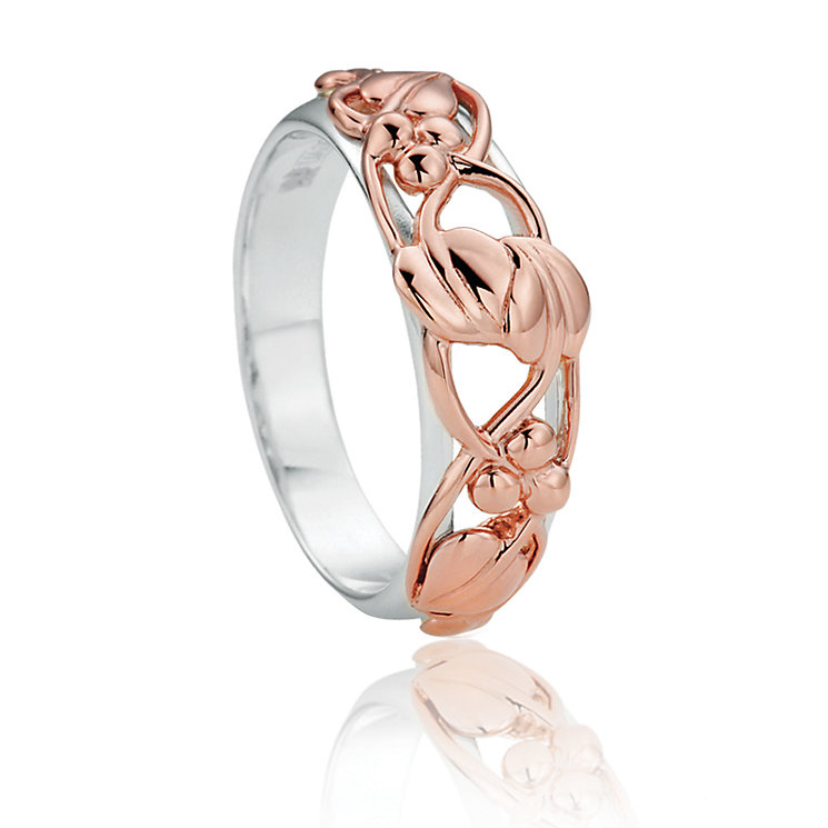 Clogau Silver & 9ct Rose Gold Tree Of Life Ring - Product number 8356300
